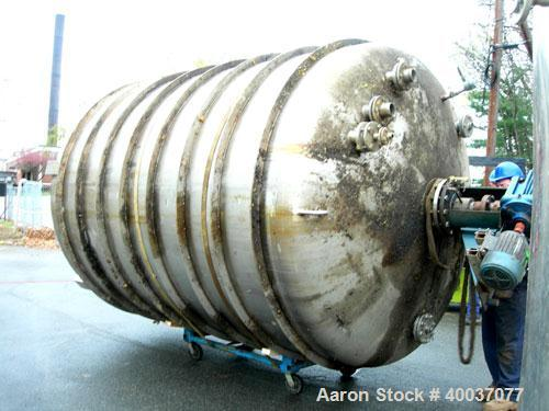 "Used: Walker Stainless pressure tank, 4000 gallon, stainless steel, vertical. Approximately 96"" diameter x 120"" straight sid..."