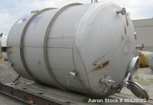 """Used- Northland Stainless pressure tank, 4800 gallon, 316 stainless steel, vertical. 101 1/2"""" diameter x  10'7"""" straight sid..."""