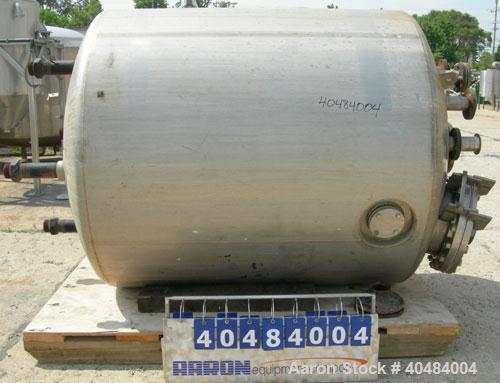 "Used- Apache Stainless pressure tank, 1000 gallon, 304L stainless steel, vertical. 66"" diameter x 66"" straight side, dished ..."