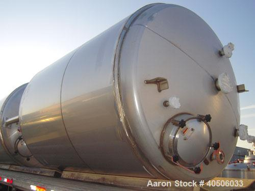 "Unused- Mueller Pressure Tank, 2500 Gallon, Model ""F"", 304L Stainless steel, Vertical. 84"" diameter x 96"" straight side, dis..."