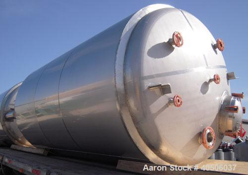 "Unused- Mueller Pressure Tank, 2500 Gallon, Model ""F"", 304L stainless steel, vertical. 72"" diameter x 144"" straight side, di..."