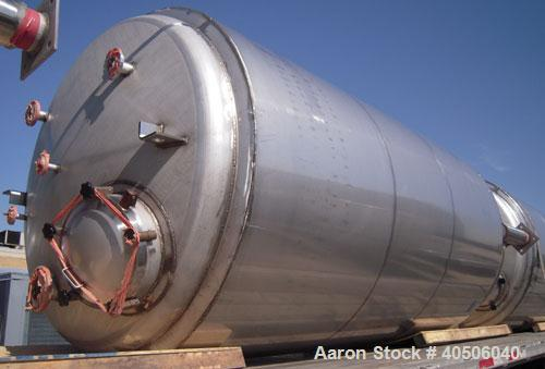 "Unused- Mueller Pressure Tank, 2,500 Gallon, Model ""F"", 304 stainless steel, vertical. 72"" diameter x 144"" straight side, di..."