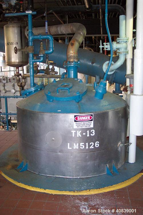 Used-Tank, 1000 gallon, stainless steel, non- agitated