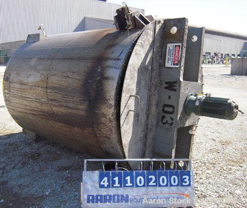 "Used- Imperial Steel Tank Company Tank, 1800 gallon, 304 stainless steel, vertical. 72"" diameter x 96"" straight side. Flat b..."