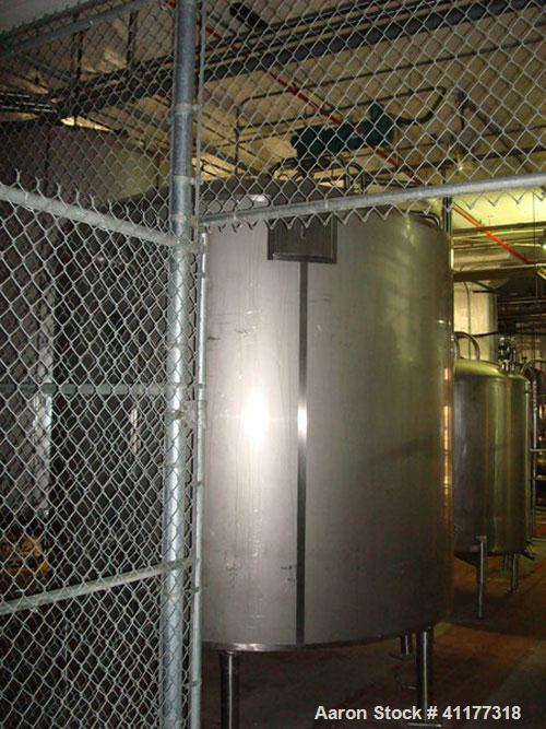 Used-Cherry Burrell 2800 gallon vertical jacketed and top agitated tank. National Board rated 4172. Jacket rated to 100 psi ...