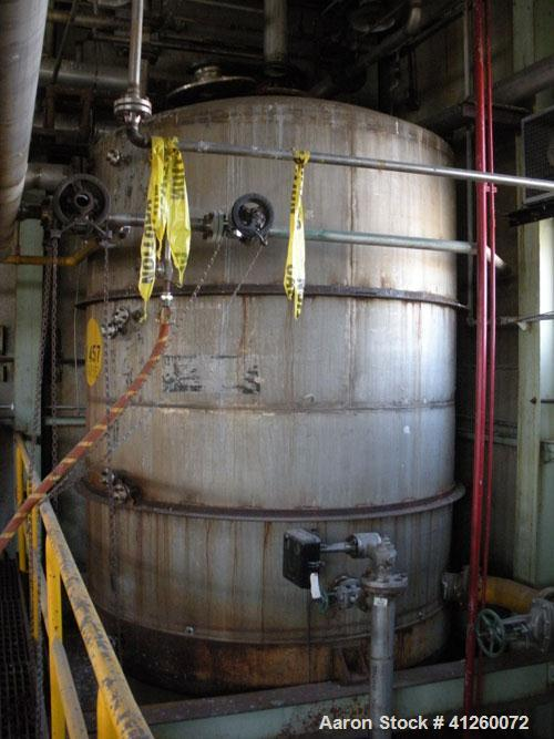 Used- Ellett Pressure Tank, 4,000 Gallon, 304 stainless steel, vertical. 8' diameter x 10' straight side, dished top and bot...