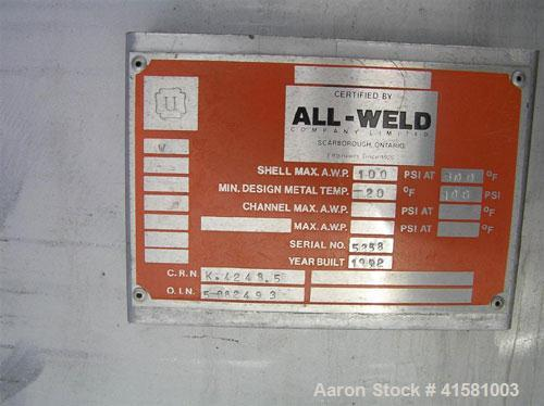 Used- Stainless Steel All-Weld Pressure Carbon Filter Tank