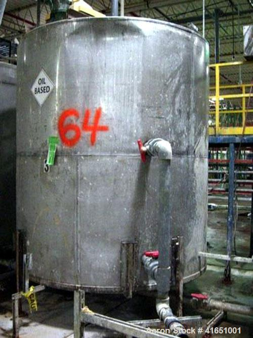 Used-MIXING TANK #3, 3000-GALLON, STAINLESS STEEL W/ TOP MOUNTED LIGHTNIN MIXER (APPEARS EMPTY)