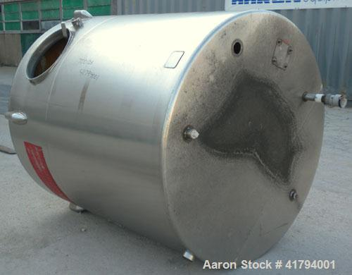 "Used- Ace Processing Equipment Company Tank, 1000 Gallon, Model CVS, 316 Stainless Steel, Vertical. 66"" diameter x 68"" strai..."