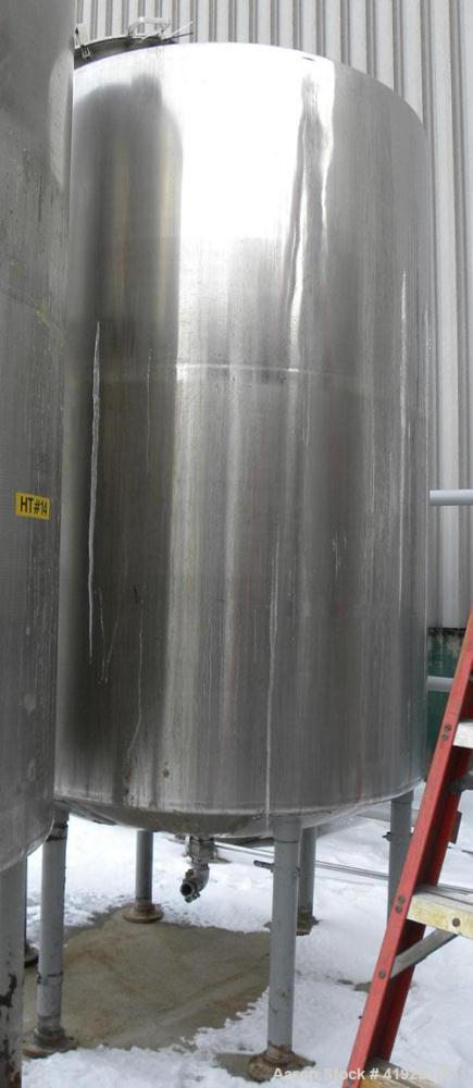 "Used- Norwalk Tank, 2000 Gallon, 316 Stainless Steel, Vertical. 76"" diameter x 106"" straight side, dished top and bottom. To..."