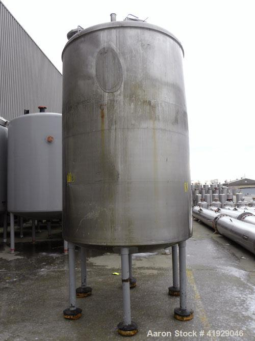 "Used- Norwalk Tank, 2000 Gallon, 316 Stainless Steel, Vertical. 76"" Diameter x 108"" straight side, dished top and bottom. Op..."