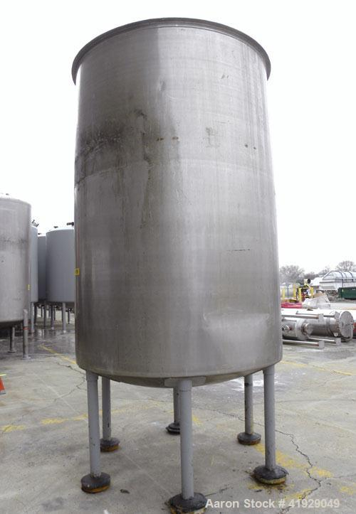 "Used- Lee Metal Products Tank, 2000 Gallon, 316 Stainless Steel, Vertical. 76"" Diameter x 108"" straight side, dished top and..."