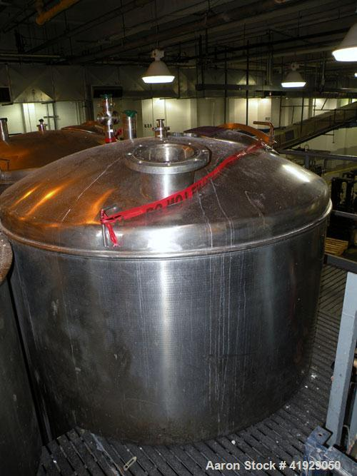 "Used- Norwalk Tank, 2000 Gallon, Stainless Steel, Vertical. 76"" Diameter x 106"" straight side, dished 304 stainless steel to..."