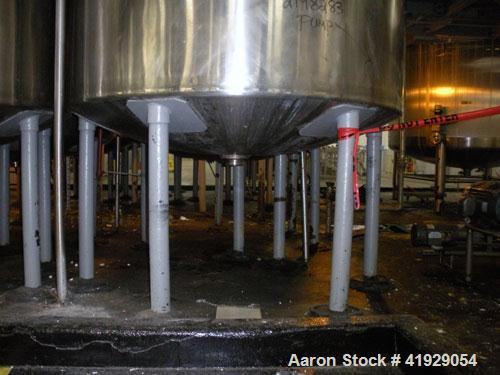 "Used- Norwalk Tank, 2000 Gallon, stainless steel, vertical. 76"" Diameter x 106"" straight side, dished top and bottom. Openin..."