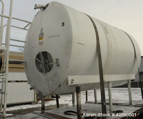 "Used- Cherry Burrell Storage Tank, 3000 gallon, model GHW, 304 stainless steel, horizontal. 84"" diameter x 108"" straight sid..."