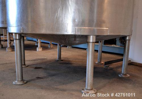 """Used- Groen Tank, 2000 Gallon, Model 2000 SP, 304 Stainless Steel, Vertical. 84"""" Diameter x 90"""" straight side. Open top with..."""