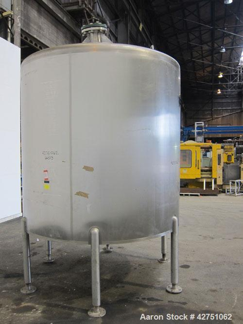 """Used- Cherry-Burrell Tank, 2000 Gallon, 316 Stainless Steel, Vertical. 84"""" Diameter x 84"""" straight side. Dished top, coned b..."""