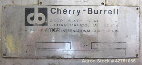 "Used- Cherry-Burrell Tank, 2000 Gallon, 316 Stainless Steel, Vertical. 84"" Diameter x 84"" straight side. Dished top, coned b..."