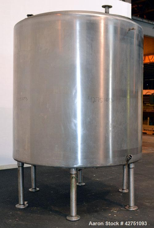 "Used- Perma-San Tank, 2000 Gallon, Model CVC, 316 Stainless Steel Vertical. 84"" Diameter x 80"" straight side. Dished top, co..."