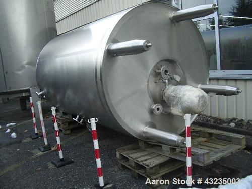 Used-Rothenburg GmbH Double Wall Pressure Tank, volume 1903 gallons (7,200 liters), stainless steel construction, vacuum, pr...