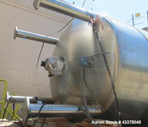"Used- Feldmeier Pressure Tank, 2000 Gallon. Stainless steel construction, approximate 72"" diameter x 114"" straight side. Int..."