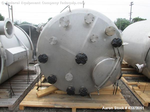 "Used- Stainless Fab Tank, 2000 Gallon. 316 Stainless steel construction, approximate 78"" diameter x 96"" straight side, dishe..."