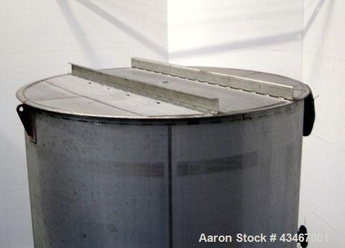 "Unused- Apache Stainless Equipment Tank, 4500 Gallon, 304L Stainless Steel, Vertical. 96"" Diameter x 144"" straight side. Fla..."