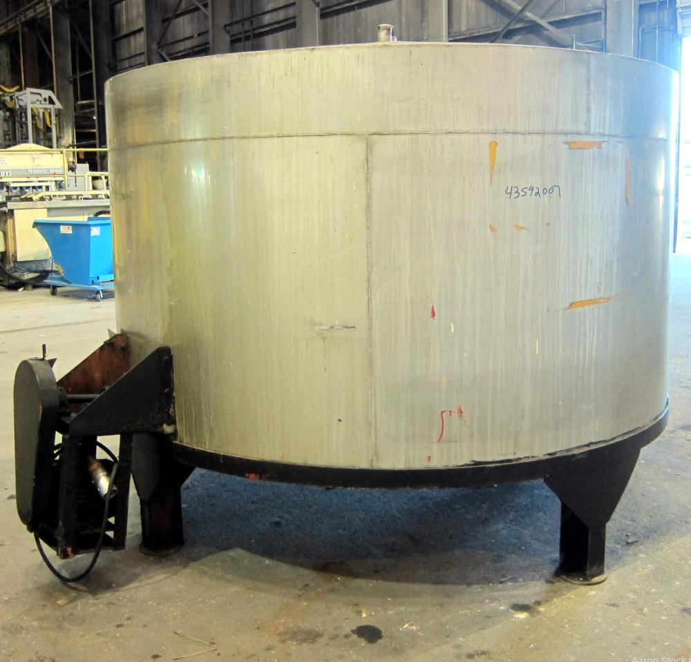 "Used- Acme Industrial Equipment Tank, 2200 Gallon, 304 Stainless Steel, Vertical. Approximately 104"" diameter x 58"" straight..."