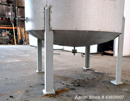 "Used- Arrow Tank & Engineering Pressure Tank, 1200 Gallons, 304L Stainless Steel, Vertical. Approximate 66"" diameter x 75"" s..."