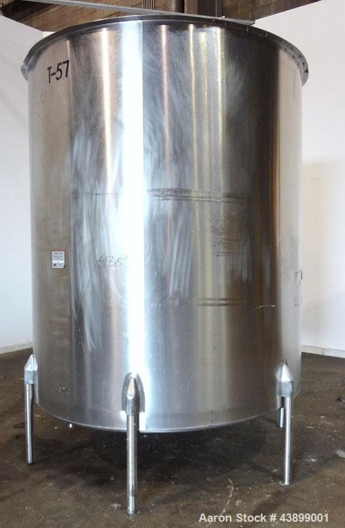 "Used- Viatec Chem-Tek Tank, 2007 Gallon, Model OVS, 316 Stainless Steel, Vertical. Approximate 80"" diameter x 92"" straight s..."