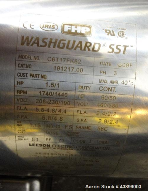 "Used- Viatec Chem-Tek Tank, 1000 Gallon, 304 Stainless Steel, Vertical. Approximately 62"" diameter x 82"" straight side. Open..."