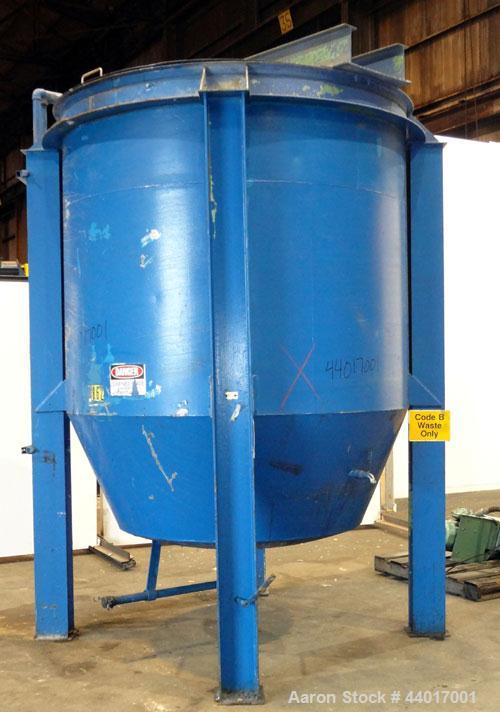 "Used- Tank, 2,000 Gallon, 304 Stainless Steel, Vertical. 84"" Diameter x 72"" straight side. Flat open top with (1) 1/3 hinged..."
