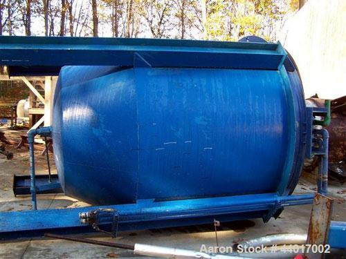 Used-Tank, 2,500 gallon, Stainless steel, vertical, open top. With Top mount Lightnin Agitator.