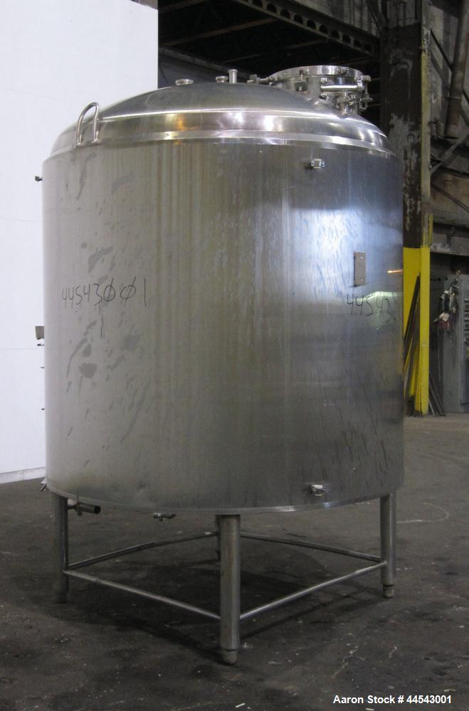 Used- 1000 Gallon Stainless Steel Cherry Burrell Reactor