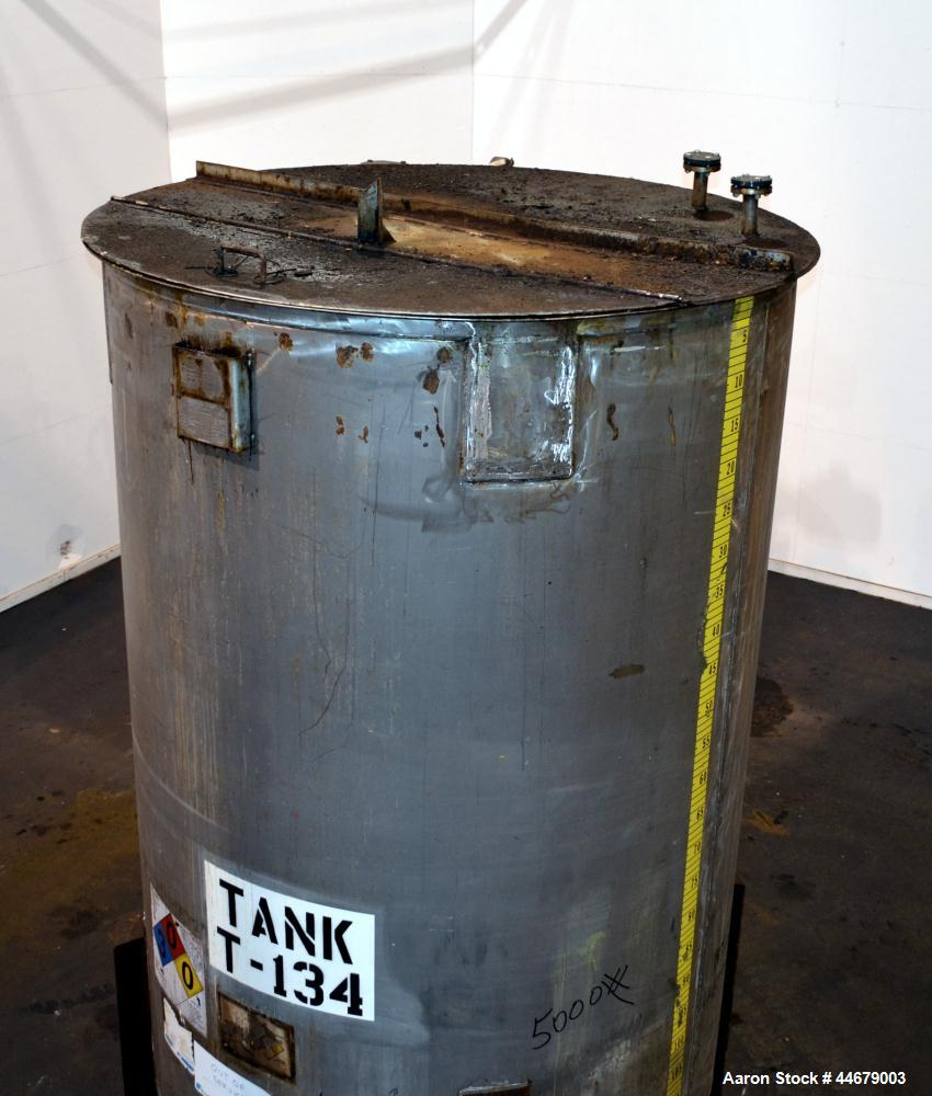 "Used- RECO Richmond Engineering Company Tank, 3170 Gallon, 304 Stainless Steel, Vertical. Approximate 84"" diameter x 122"" st..."