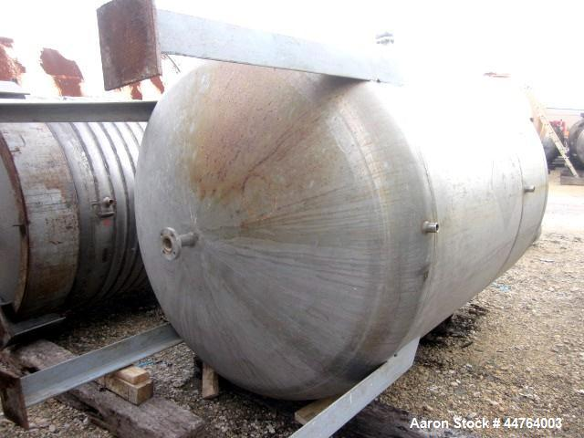 "Used- Harris Tanks Pressure Tank, 1000 Gallon, 304L Stainless Steel, Vertical.  60"" Diameter x 72"" straight side, dished top..."