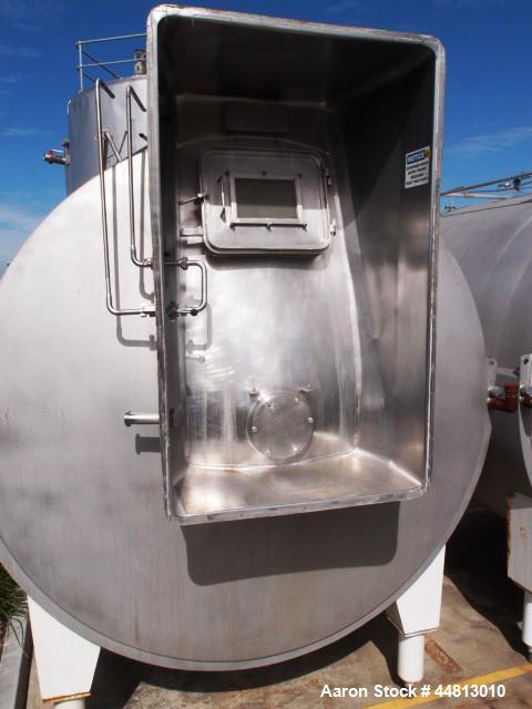 Used-Tetra Tebel OST Horizontal Mixing Tank.  Stainless steel, 15,000 liter capacity, 3000 mm diameter x 2750 mm long, jacke...