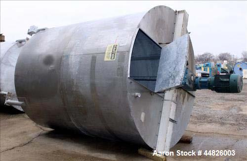 Used- Approximately 4,000 gallon Bright Sheet Metal Tank.