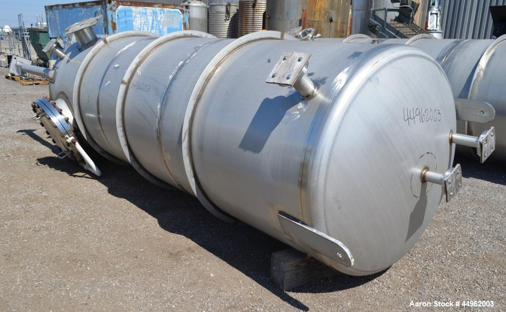 """Unused- Northland Stainless Pressure Tank, 1720 Gallons, 304 Stainless Steel. 54"""" Diameter x 168"""" straight side, dished top ..."""