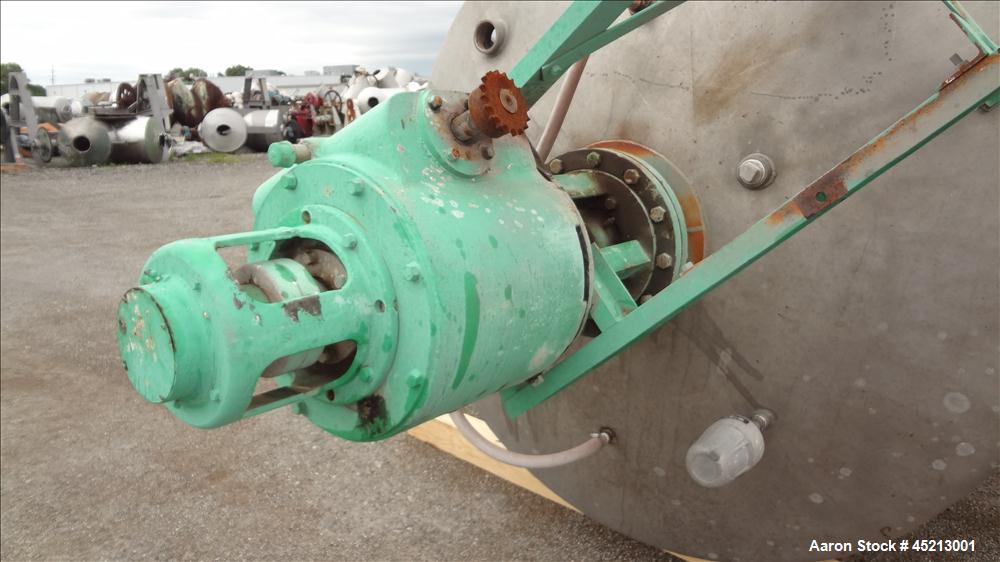Used- 2000 Gallon Stainless Steel Groen Pressure Tank, Model 2B-WC-1000