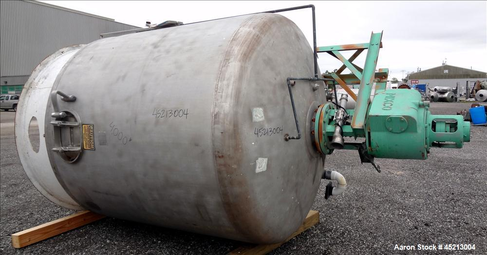 Used- 2000 Gallon Stainless Steel Groen Pressure Tank, Model 2B-WC-1000