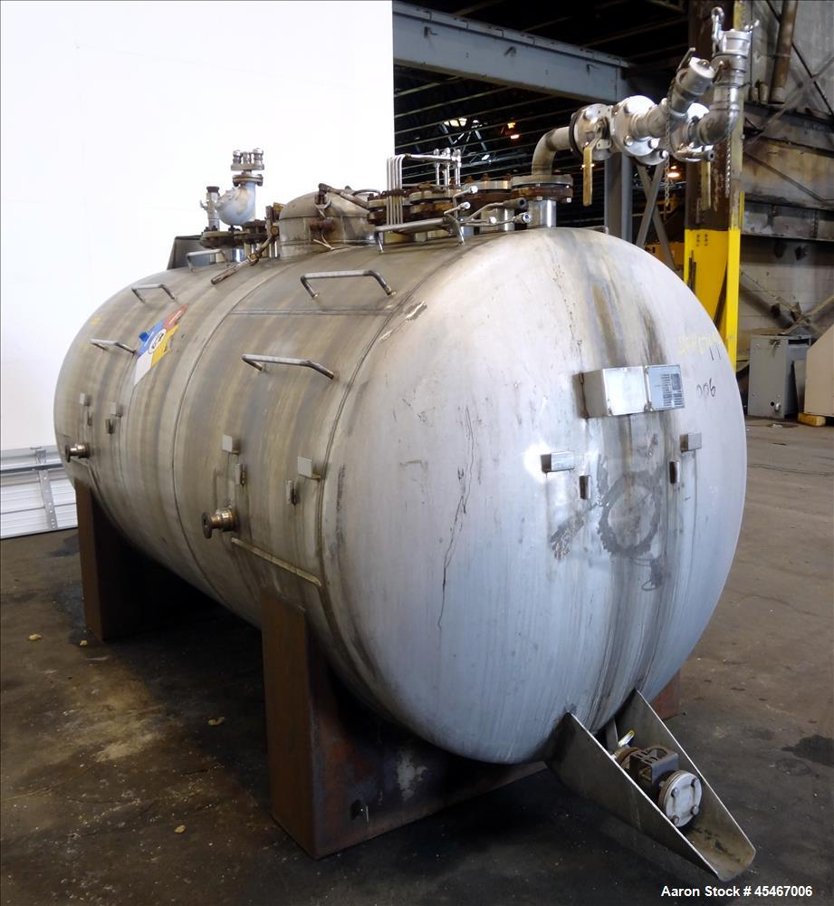 Used- 1,900 Gallon Stainless Steel Tennessee Eastman Pressure Tank