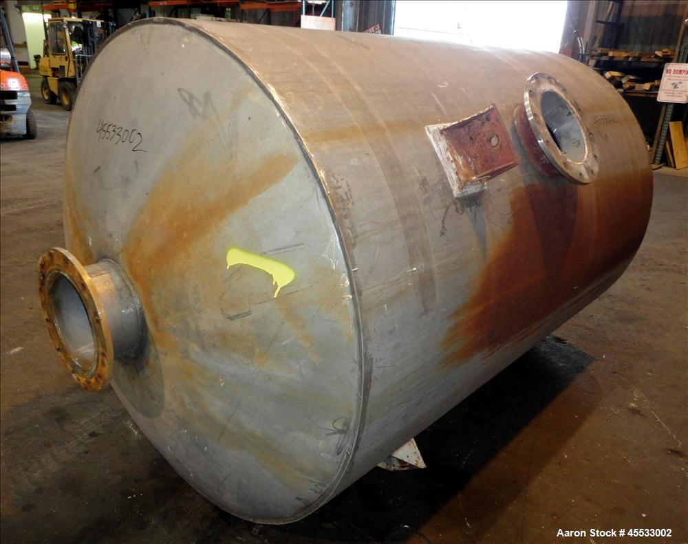 "Used- 1244 Gallon, 316 Stainless Steel Tank. Approximately 65"" diameter x 84"" straight side. Dished top and bottom. 10"" flan..."