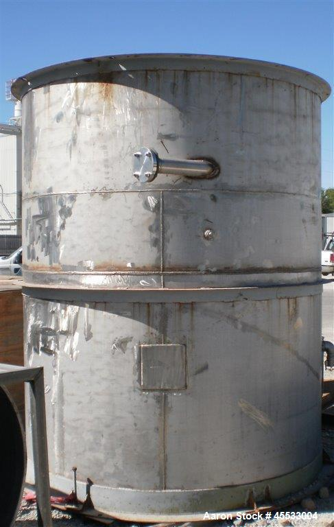 Used-Stainless Steel Tank, 2900 Gallons.  8 feet 6 inch diameter, 7 feet straight side, open top and flat bottom.