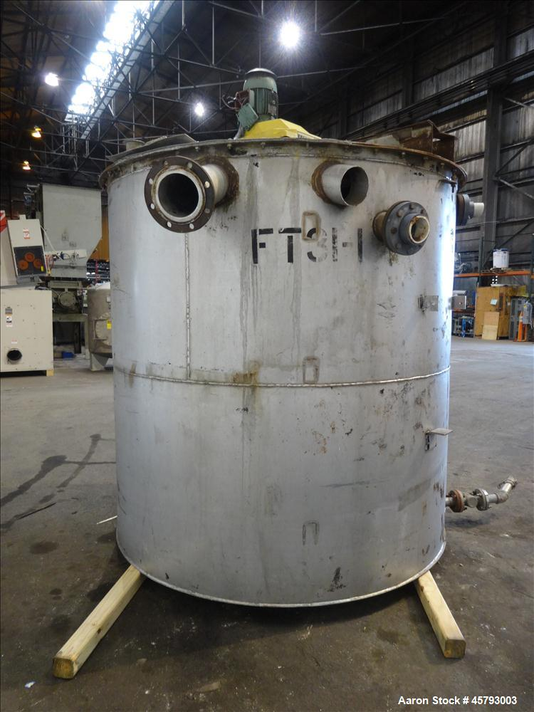 Used- Tank, Approximately 2,400 Gallon, 304 Stainless Steel, Vertical.