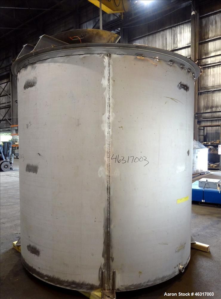 "Unused- Tank, Approximately 3,000 Gallon, 304 Stainless steel, Vertical. Approximately 102"" diameter x 99"" straight side. Fl..."