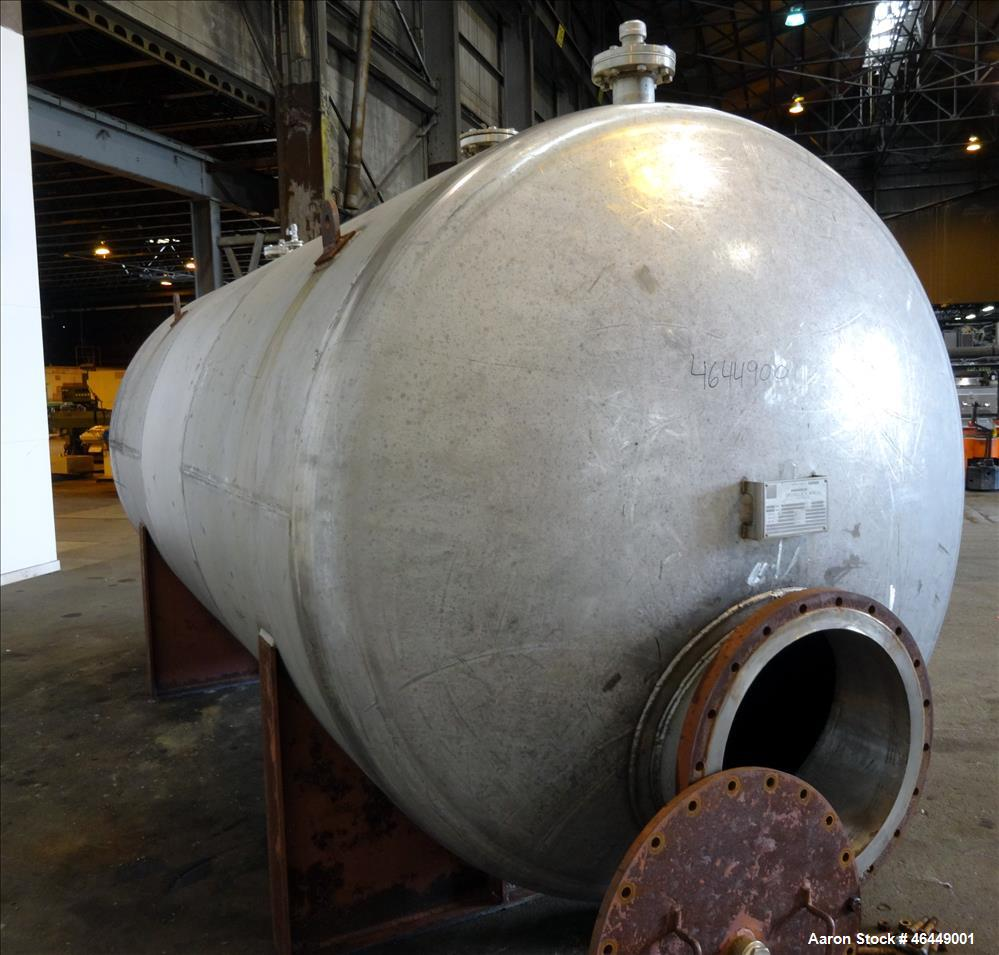 "Used- Circleville Metal Works Pressure Tank, Approximately 4000 Gallons, 304L Stainless Steel, Horizontal. 84"" Diameter x 16..."