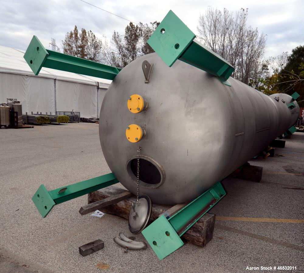 Unused- Graver Water Systems Approximate 3000 Gallon Exhausted Resin Storage Vessel. Manufactured by Kennedy Tank, 304/304L ...