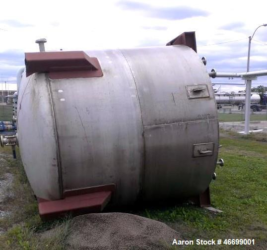 Used- Mid South Maintenance (MSM0 Tank, 4,290 Gallon. Dimensions: 9 diameter x 8 straight side. Flat top, ASME dish bottom. ...