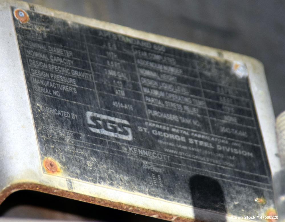 Unused- St. George Steel (SGS) API Standard 650 Tank.